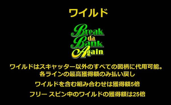 Break Da Bank Again ワイルドシンボル