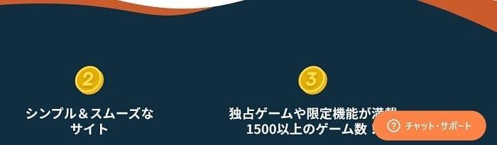シンプルカジノ のカスタマーサポート チャット