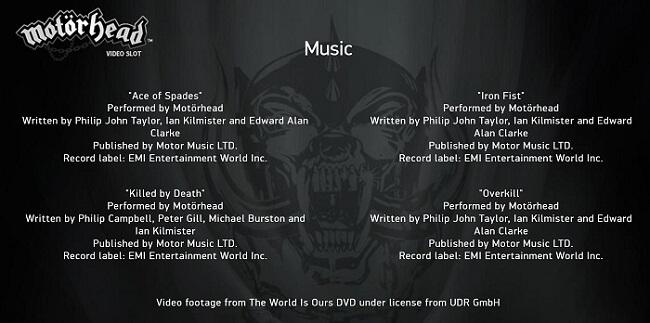 MOTÖRHEAD 曲リスト