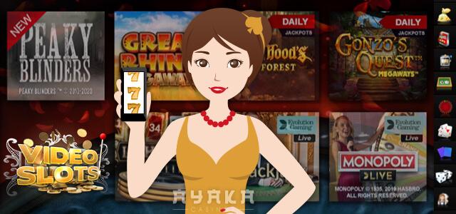 ビデオスロットのカジノゲーム